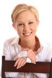 白肤金发的chair2 免版税库存图片