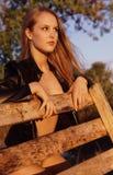 白肤金发的gal魅力 免版税库存图片