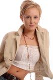 白肤金发的jacket3 免版税库存照片