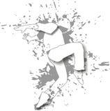 白舞蹈家 库存图片