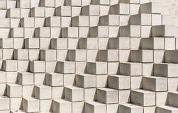 白色一起所有被堆积的砖和块 免版税库存照片