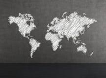 白色世界地图 图库摄影