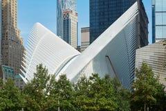 白色世界贸易中心的Oculus外部在纽约 库存照片