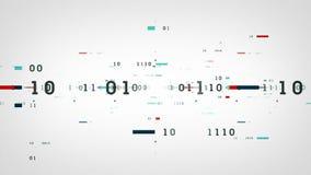 白色二进制数据的位 库存例证