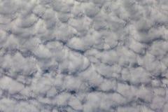 白色云彩形成夏天天空 免版税图库摄影