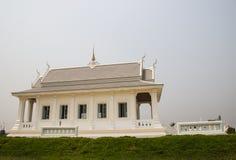 白色亚洲教会寺庙 图库摄影