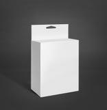 白色产品包裹箱子 库存图片