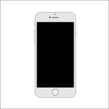 白色亭亭玉立的智能手机的新版本 库存照片