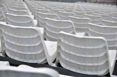 白色体育场位子 库存图片