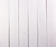 白色作为背景的被绘的木纹理 库存图片