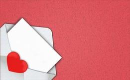 白色信封被打开的和信件模板 设计的a地方 库存例证