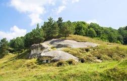 白色克罗地亚人的古老洞首都 免版税库存图片