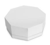 白色八角形物形状的箱子 免版税图库摄影