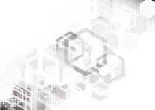 白色六角形抽象赛跑的背景、技术和futuris 免版税库存图片