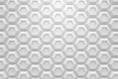 白色六角形Honeyomb现代技术黑色摘要3d支持 库存照片