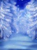 白色冬天森林 库存例证