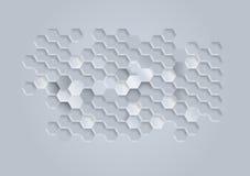 白色几何纹理 向量背景 库存例证