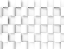 白色几何texture.3d背景 图库摄影