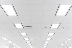 白色办公室天花板 免版税库存图片
