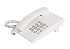 白色办公室电话 库存图片