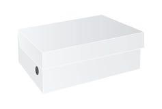 白色包裹箱子 库存照片