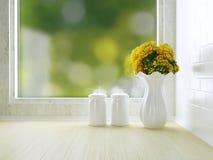 白色厨房设计 库存照片
