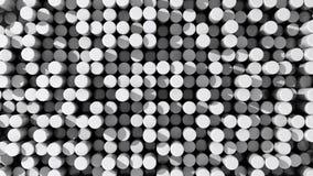 白色反射性被挤压的圆筒或标尺背景  皇族释放例证