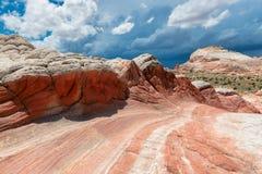 白色口袋,银朱的峭壁国家历史文物,亚利桑那 库存图片