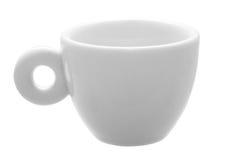 白色古典30 ml浓咖啡咖啡的杯子  免版税图库摄影