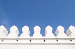 白色古城墙壁 库存照片