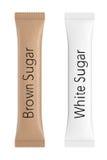 白色和布朗包裹糖的 3d翻译 库存照片