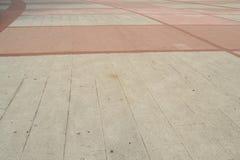白色和桃红色路面,弯曲的线 库存图片