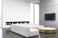 白色和灰色客厅,沙发 向量例证