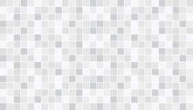 白色和灰色陶瓷地板和墙壁瓦片 抽象背景向量 几何镶嵌构造 简单的无缝的样式 向量例证