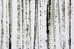 黑白色和灰色水彩条纹1 免版税库存照片