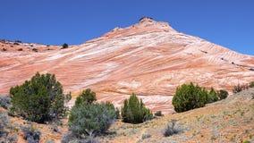 白色和红砂岩小山 免版税图库摄影