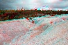 白色和红色对比土壤3d彩色立体图 免版税图库摄影