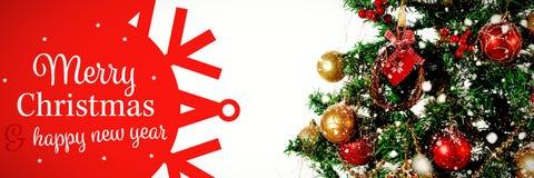 白色和红色贺卡的综合图象 免版税库存图片