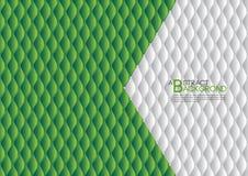 白色和绿色抽象背景传染媒介例证,盖子模板布局,企业飞行物,皮革纹理 皇族释放例证