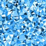白色和蓝色三角冬天马赛克背景 向量例证