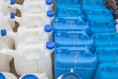 塑料气体罐头 免版税库存照片