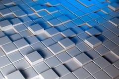 白色和蓝色背景通常塑造 免版税库存图片
