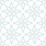 白色和藏青色几何装饰品 无缝的模式 免版税库存照片