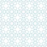 白色和藏青色几何装饰品 无缝的模式 免版税库存图片