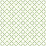 白色和野生杨柳patern色的quatrefoil 库存例证