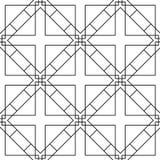 白色和黑几何装饰品 无缝的模式 库存照片