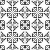 白色和黑几何装饰品 无缝的模式 免版税库存照片