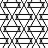 白色和黑单色几何装饰品 无缝的模式 库存图片
