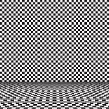 白色和黑瓦片背景 向量例证