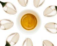 白色咖啡与茶匙的 图库摄影